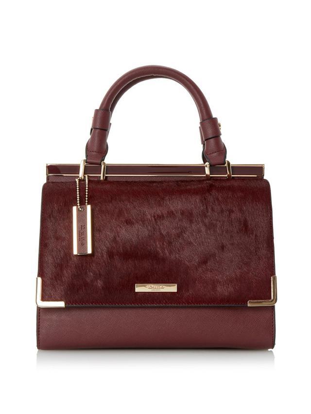 Dune London DAFFIE Contrast Flap Over Pocket Top Handle Handbag