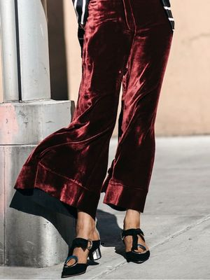 The Velvet Pant Look You'll Want to Try This Fall
