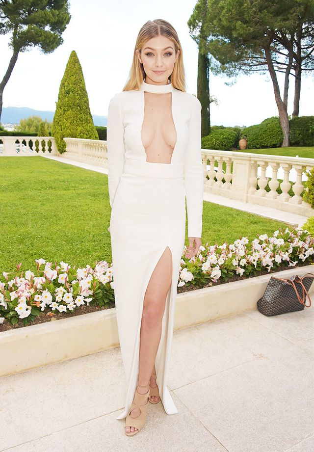Gigi Hadid wore hers with a white Tom Ford gown at the amfAR Gala in Cannes in 2015.