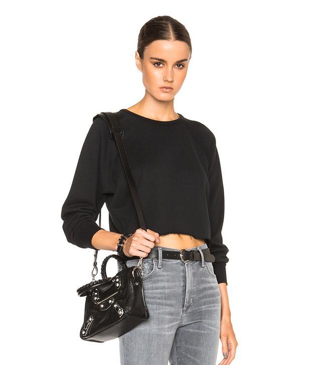 Unravel Cropped Raglan Sweatshirt
