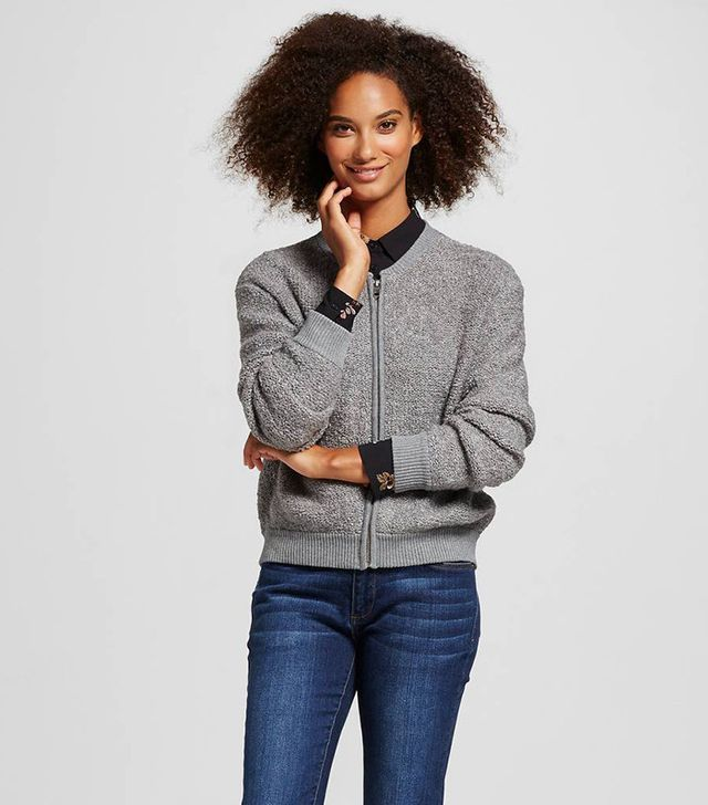 Who What Wear Boucle Bomber