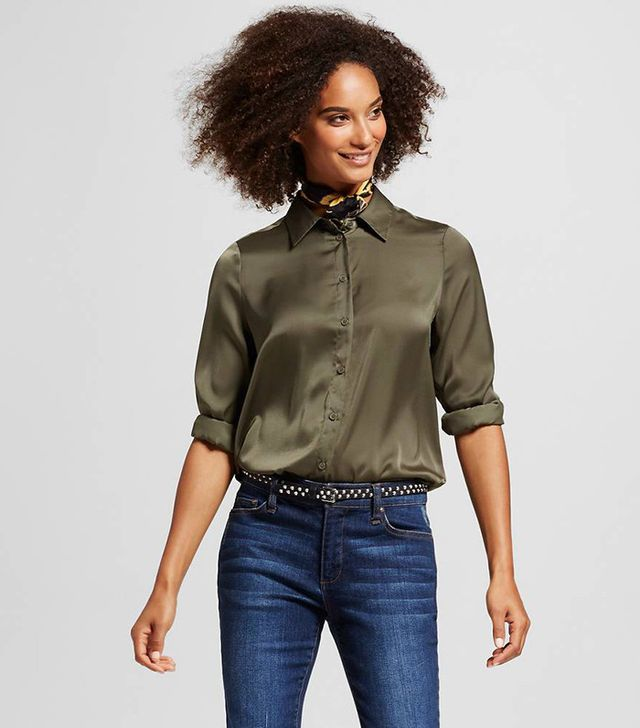 Who What Wear Straight Hem Button Down