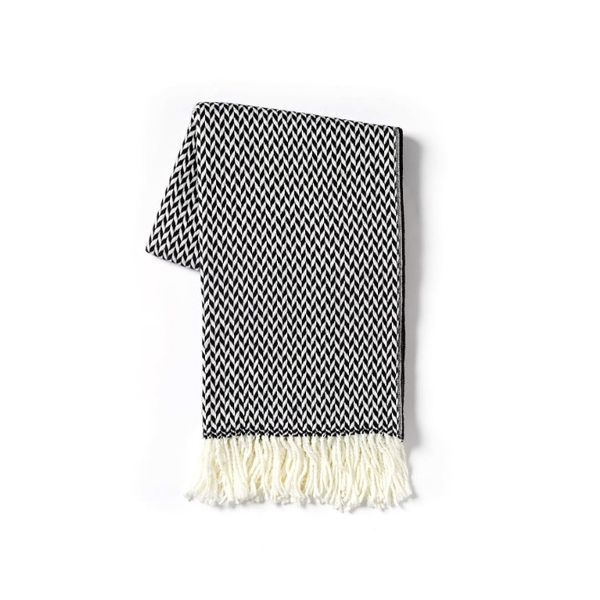 West Elm Arrow Jacquard Throw