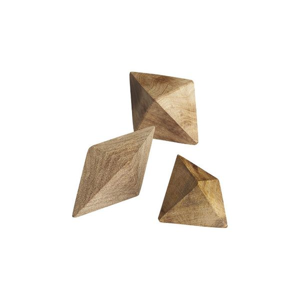 CB2 Set of 3 Wood Shapes