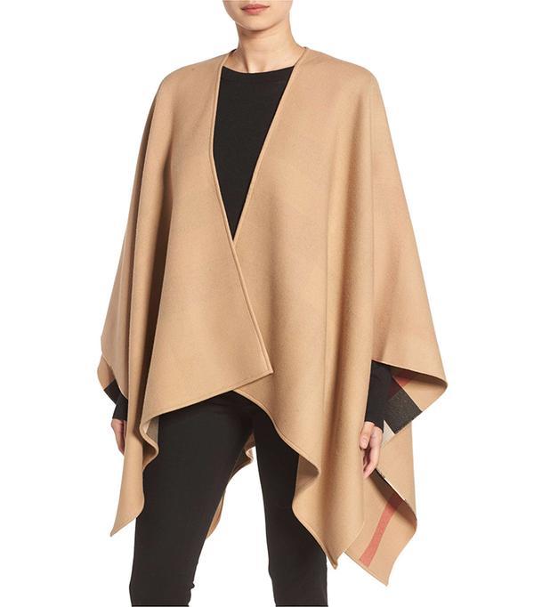 Reversible Merino Wool Cape