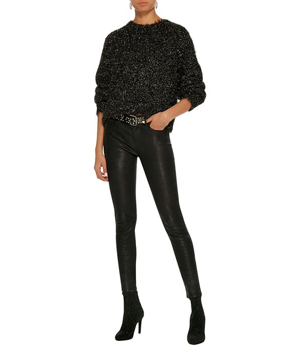 Le Skinny De Jeanne Mid-Rise Leather Pants