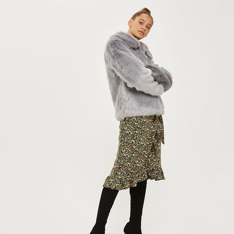 Tall Faux-Fur Coat