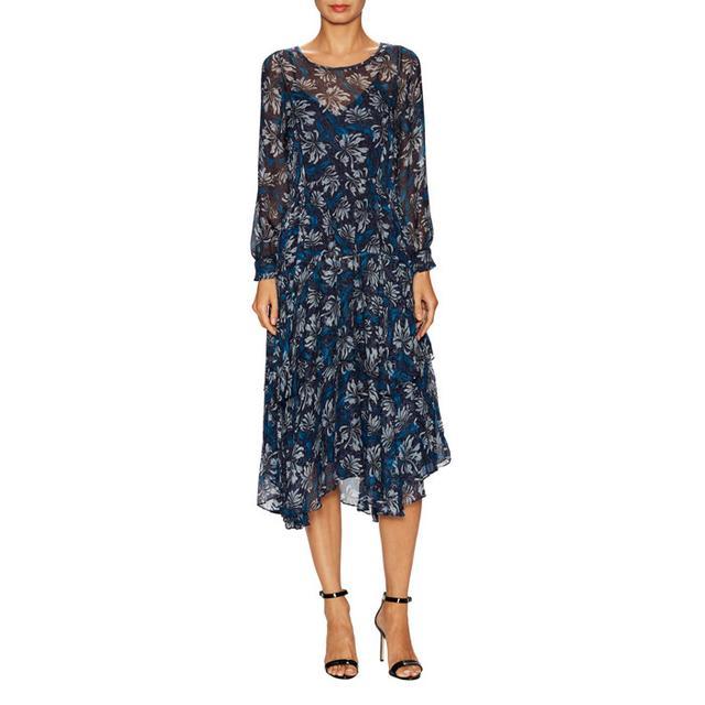 Rebecca Taylor Mystic Chiffon Handkerchief Midi Dress