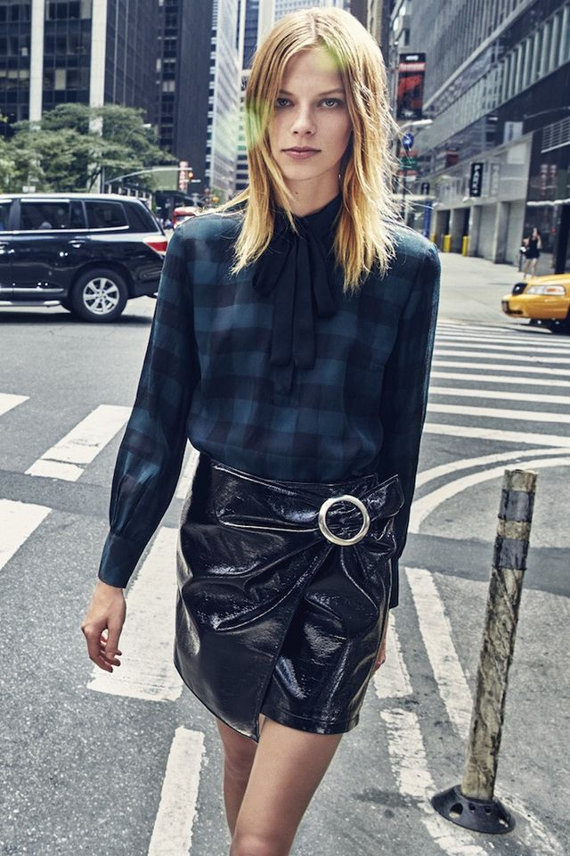 3 Über-Chic Ways to Wear a Black Patent Leather Skirt | WhoWhatWear
