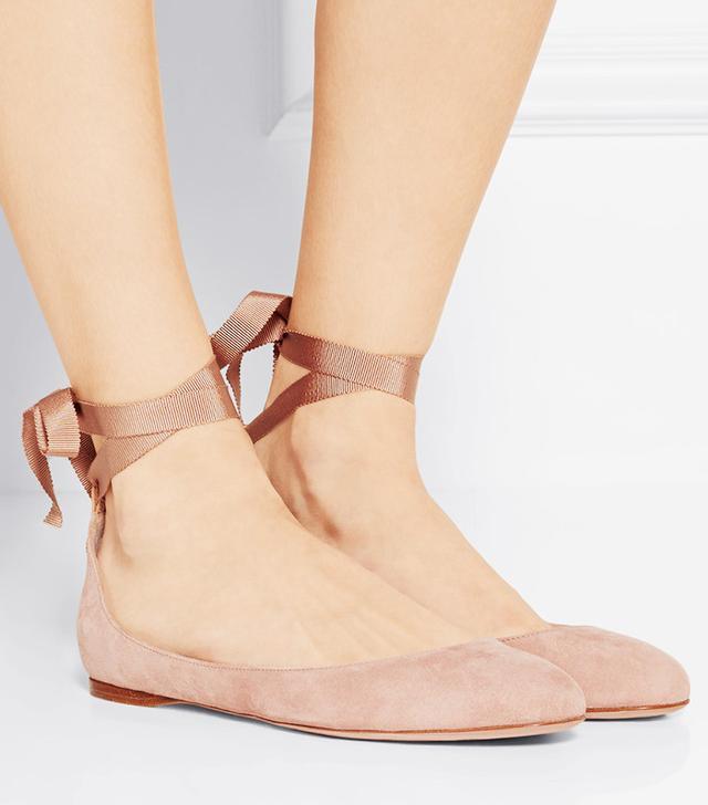 Aerin Suede Ballet Flats