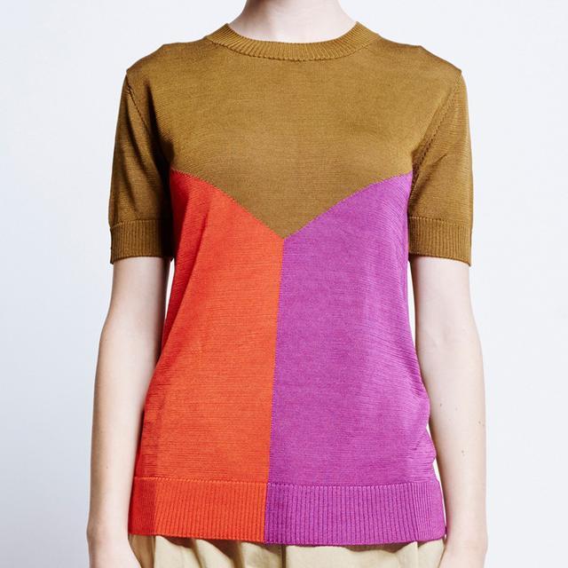Karen Walker Split Image Sweater