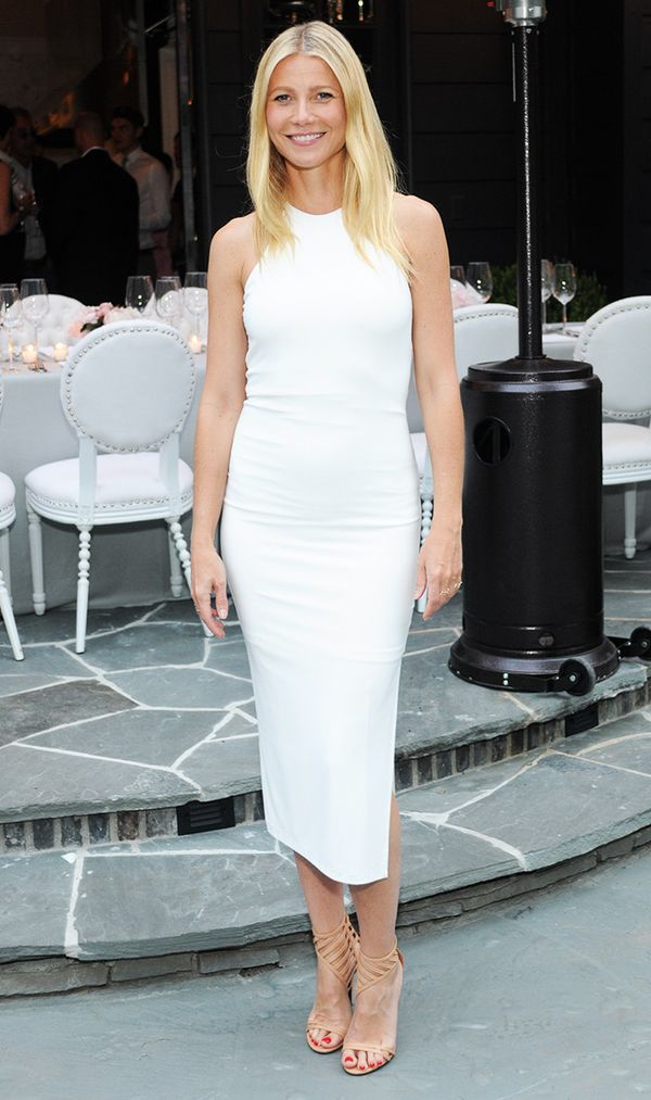 Gwyneth Paltrow wearing white dress