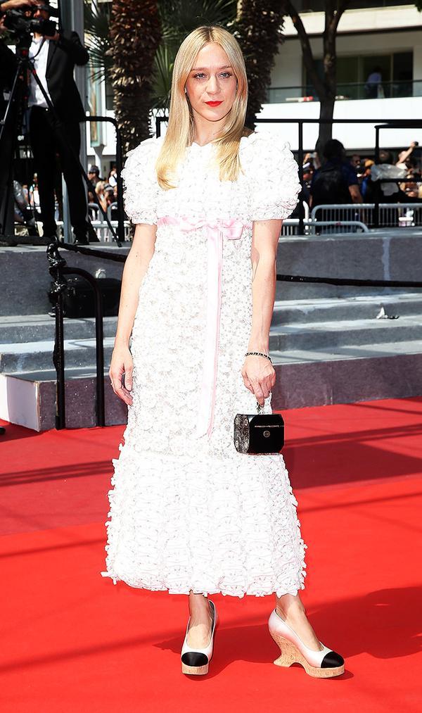 Chloe Sevigny wearing chanel dress in cannes