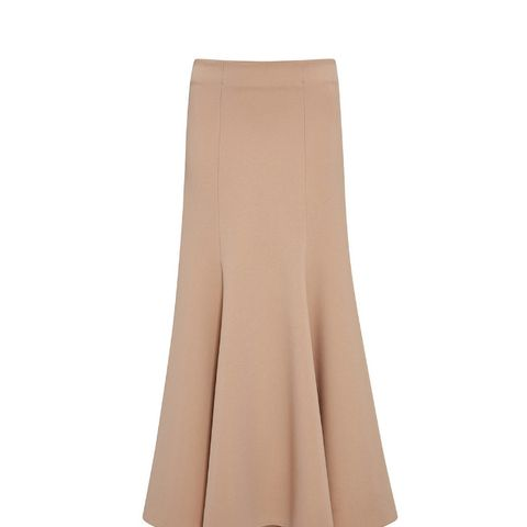 Long Structured Wool Skirt