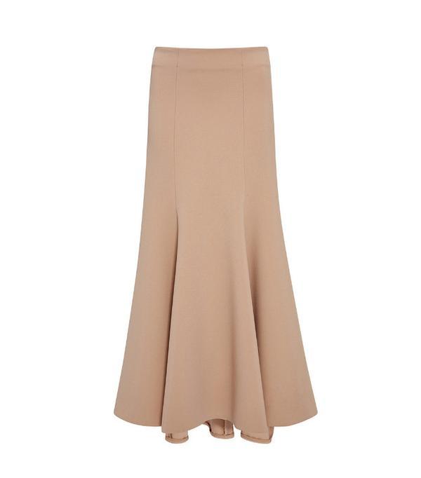 Jonathan Simkhai Long Structured Wool Skirt