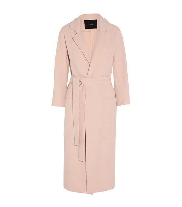 Maje Boiled Wool Coat