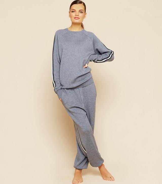 Olivia Von Halle Missy London Silk-Cashmere Tracksuit