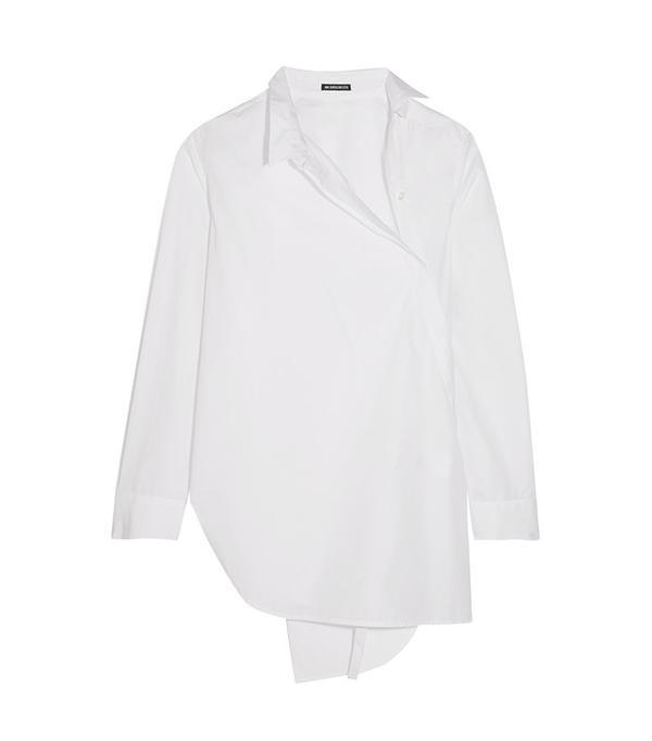 Ann Demeulemeester Asymmetric Cotton Shirt