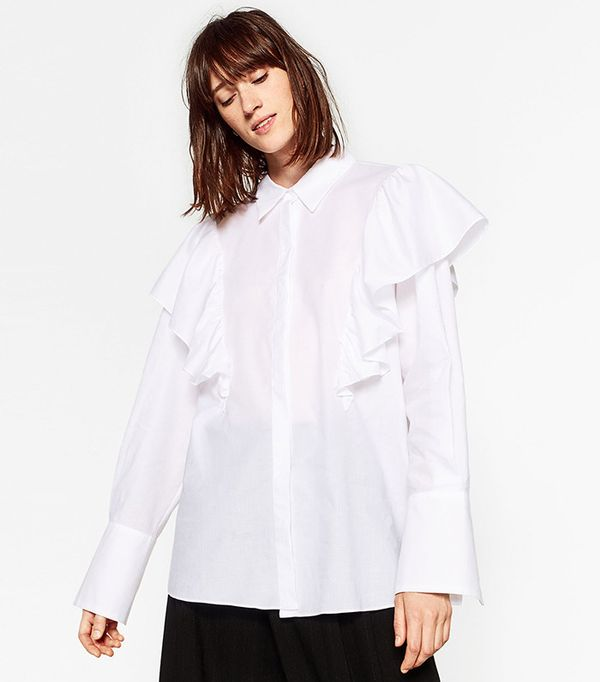 Zara Oversized Blouse with Frill