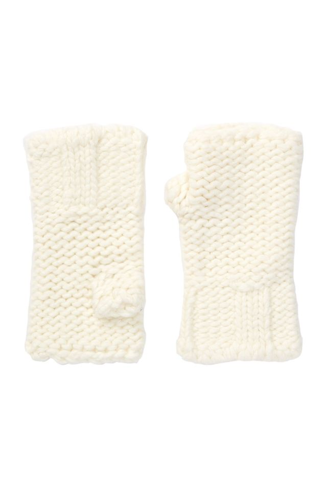 Portolano Panna Cashmere Knit Fingerless Gloves