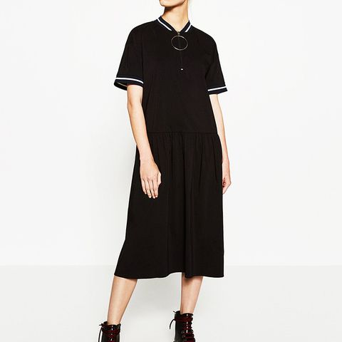 Zipped Midi Dress
