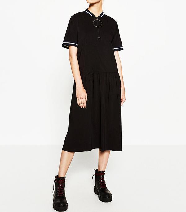 Zara Zipped Midi Dress