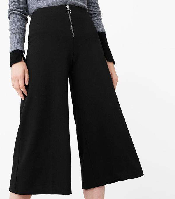 Mango Cropped Zip Pants