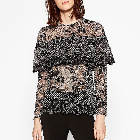Lace Top with Frills