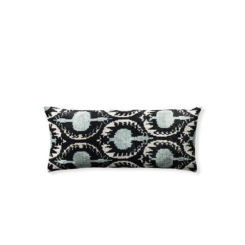 Ikat Silk Velvet Anor Lumbar Pillow Cover
