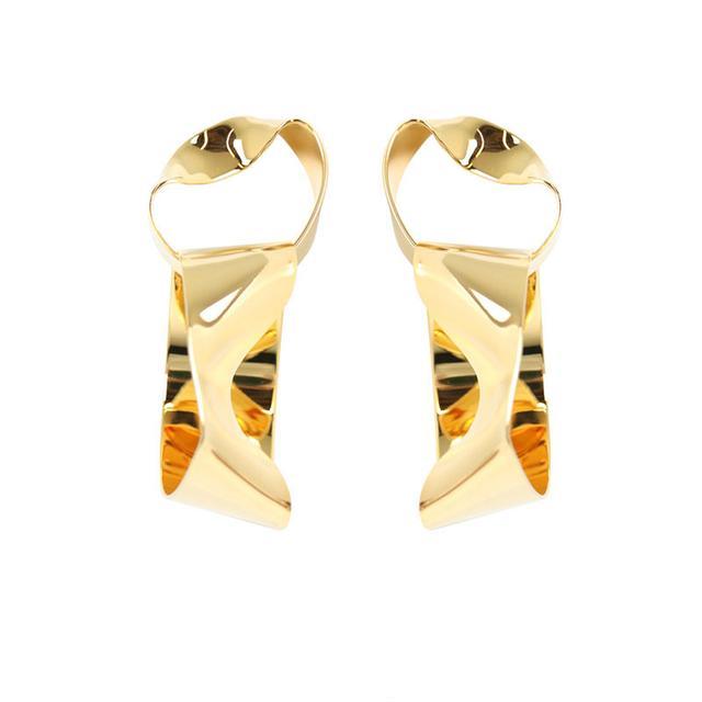 Balenciaga Drape Abstract Earrings