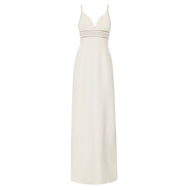 Balenciaga Chain-Embellished Stretch-Crepe Gown