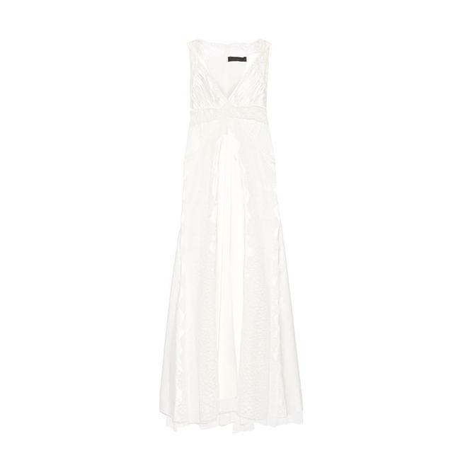 Alexander Wang Cutout Lace-Paneled Silk Dress