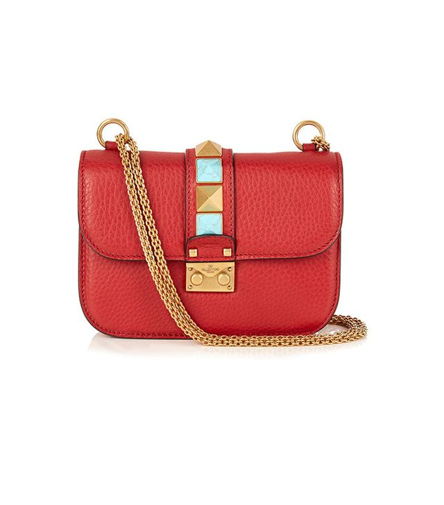 Valentino Lock Rolling Shoulder Bag