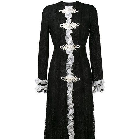 Ruffled Lace Maxi Dress