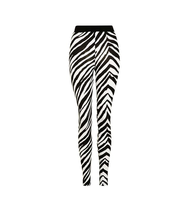 Topshop Zebra Print Legging