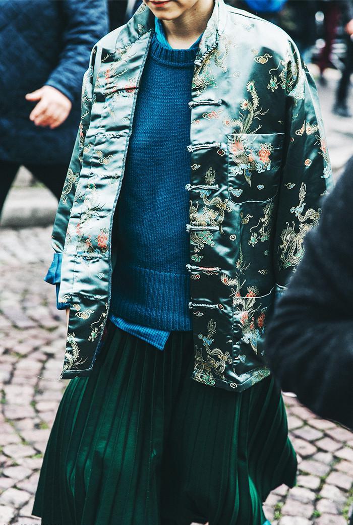 chinese-inspired jacket street style