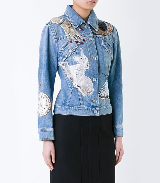 Alexander McQueen Embellished Denim Jacket