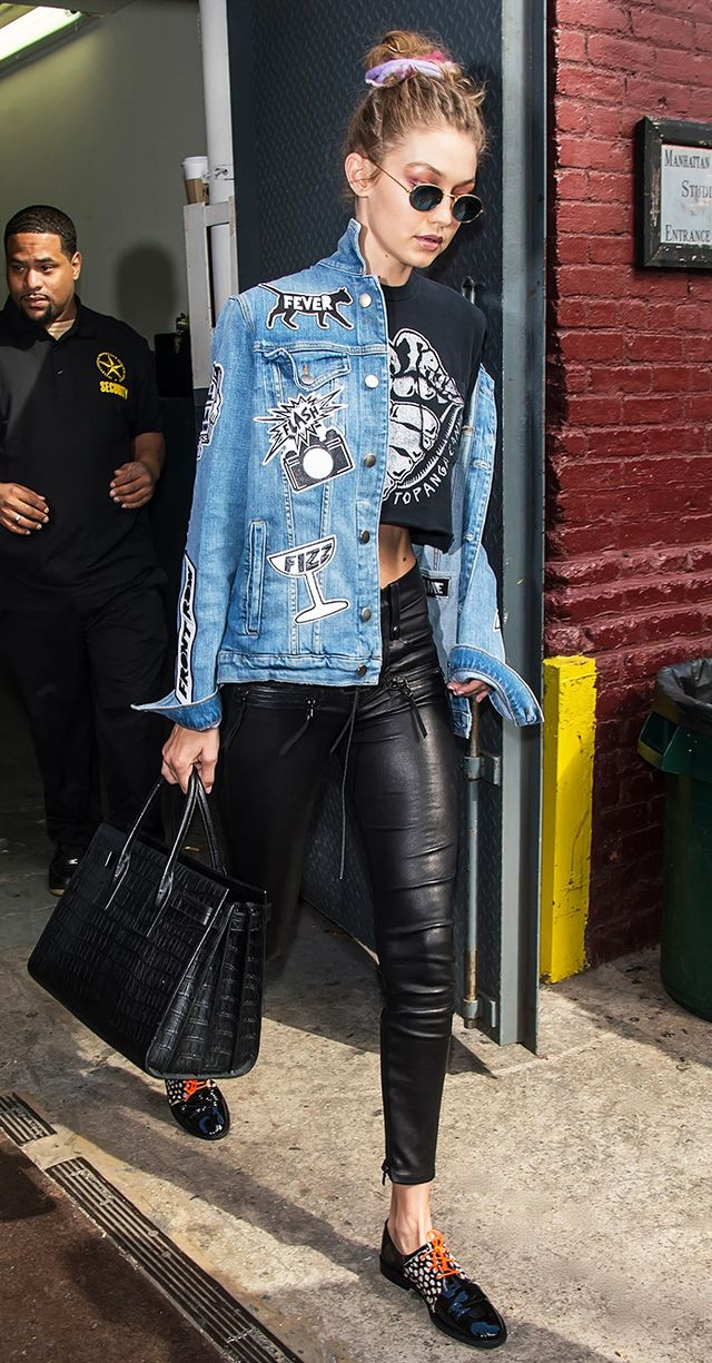 Gigi Hadid wearing denim jacket