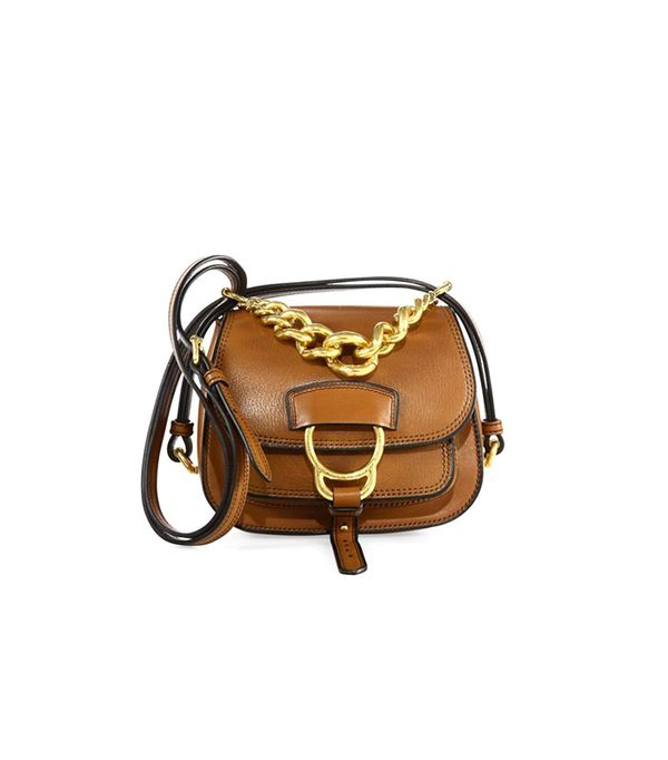 Miu Miu Dahlia Small Madras Leather Saddle Bag