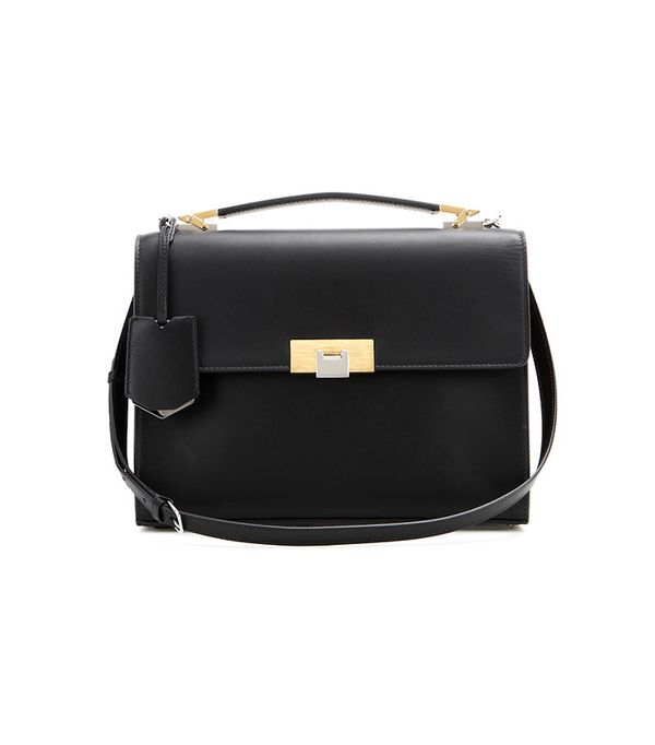 Balenciaga Le Dix Cartable S Leather Shoulder Bag