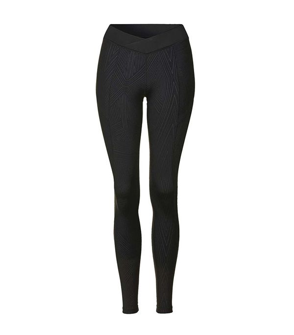Topshop Print Mid-Rise V-Shape Leggings by Ivy Park