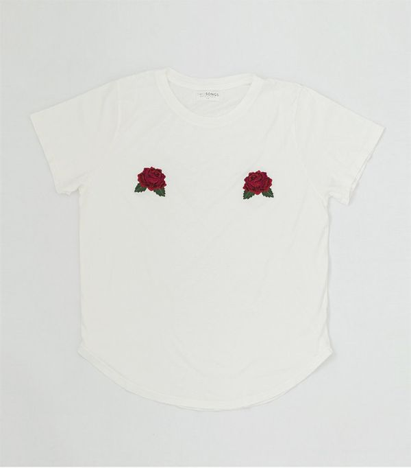 Two Songs Rose Tits Tee