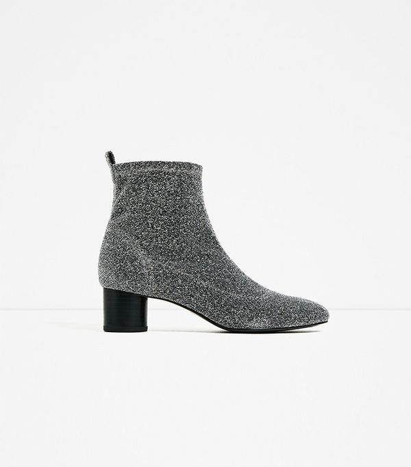 Zara Shiny Sock Ankle Boot