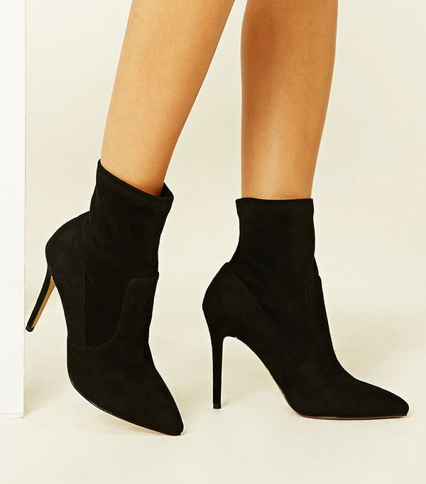 Forever 21 Faux Suede Sock Boots