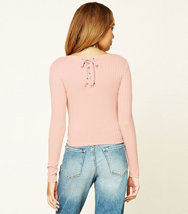 Forever 21 Lace-Up Back Top