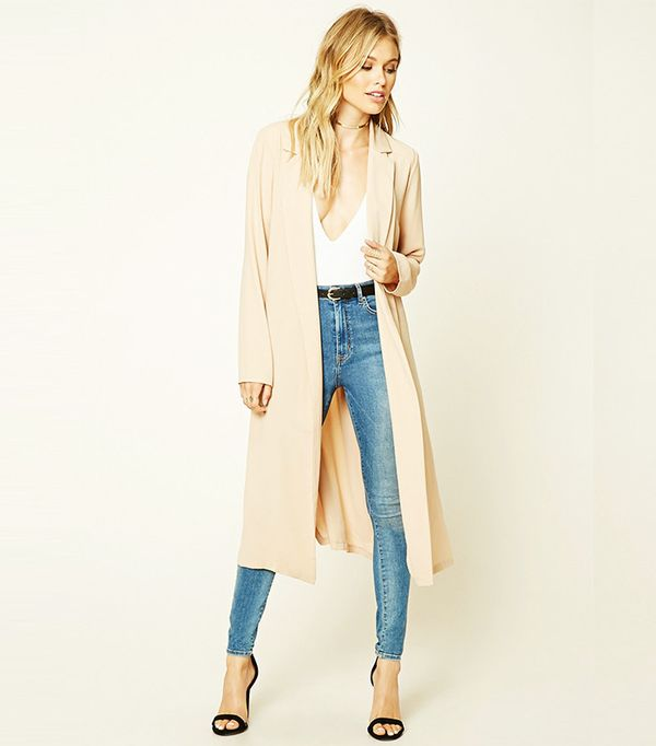 Forever 21 Contemporary Belted Jacket