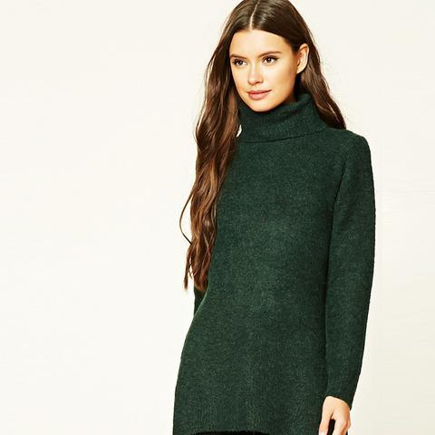 Marled Longline Tunic Sweater