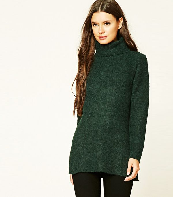 Forever 21 Marled Longline Tunic Sweater