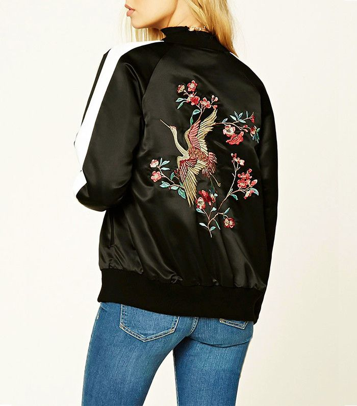 Forever 21 Embroidered Souvenir Jacket