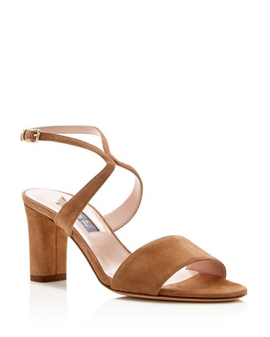 SJP by Sarah Jessica Parker Harmony Ankle Strap Mid Heel Sandals